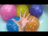 MEGA Learn Colours Wet Balloons Compilation - Water Balloon Colors Finger Family Song P2