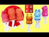 Zoku Fruit Juice Popsicle Maker Bunny, Princess, & Kitty Shapes with Strawberry Banana Guava!