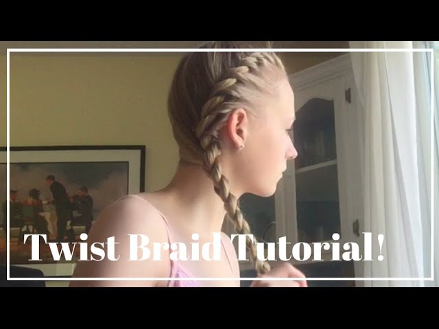 Twist Braid Tutorial - Two Strand Braid || Paigebeautyxo