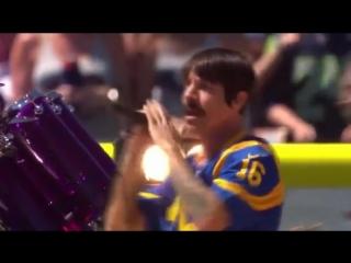 Red Hot Chili Peppers Preshow Los angeles Rams, Los Angeles Memorial Coliseum 18 de Septiempre 2016.