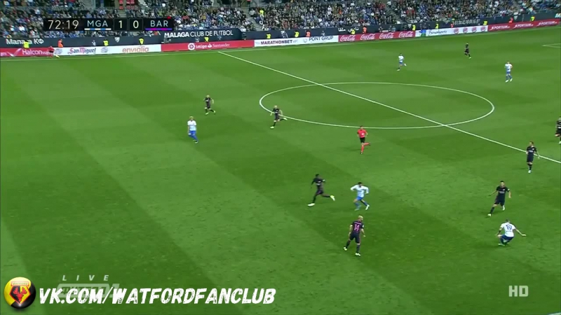 «Малага» 2:0 «Барселона» | Отмененный чистый гол Пеньяранды