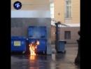 Пожар у арки Генштаба