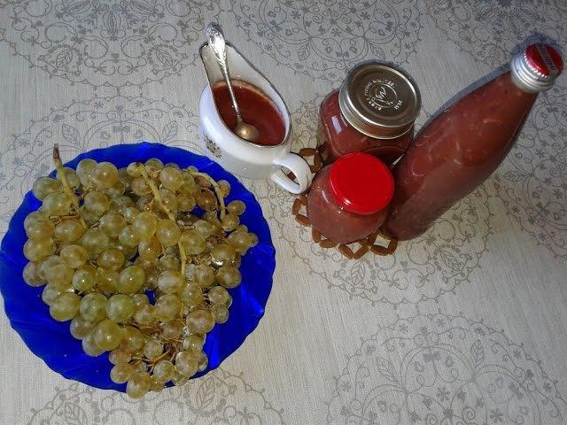 Соус ТКЕМАЛИ из винограда - грузинская кухня / Sauce TKEMALI from grapes