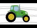 СВЕТОФОР - Раскраска - Развивающая песня мультик для детей про машинки трактор и цвета