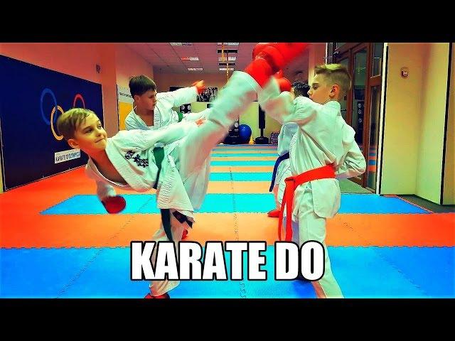 Тренировка перемещений, ударов, защиты/Train movements, strikes, blocks in karate/KARATE CLUB SKIF
