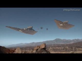Star Wars Battlefront: All Ship Scenes for Big Team Maps(With Battle of Jakku)
