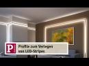 Indirektes LED Licht YourLED Strip und Duo und Delta Profile