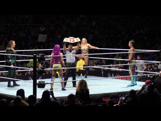 SBMKV_Video | Bayley vs Charlotte Flair vs Sasha Banks vs Nia Jax WWE Raw Womens Championship Match 4/14/17