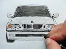 Как нарисовать Машину Бумер BMW Любительская работа Ehedov Elnur Wie man ein Auto BMW zieht