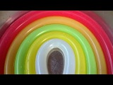 Rainbow Wet water Balloons Learn colours Finger Nursery Balloon family Compilation