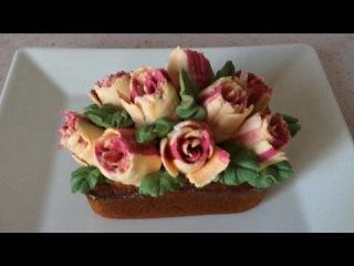 Насадка Тюльпан Роза Кекс Секрет Тропиканки / Russian piping tips Rose Cake