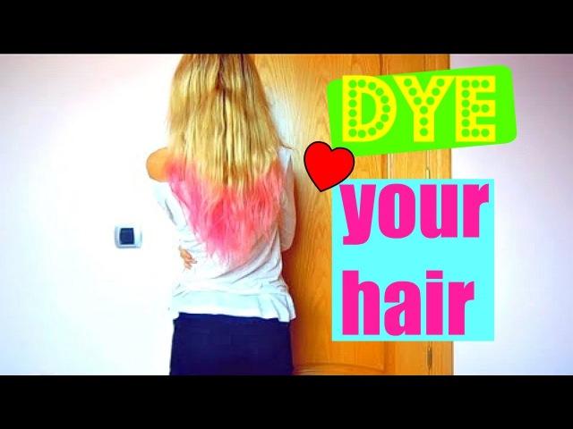 Kак покрасить волосы временно с бумагой дома