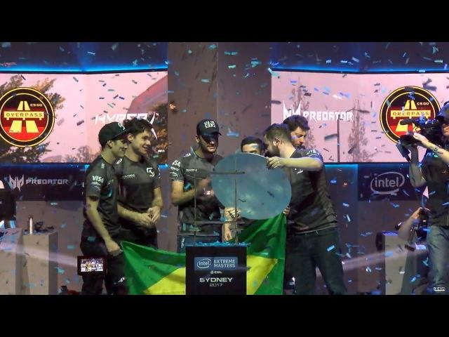 SK gaming IEM Sydney 2017 Champions! Winning moment vs. Faze Clan in Grand-final. CyberWins CAMPEÃ