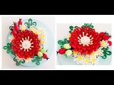 Quilling Flower Decoration Series  Quilling Flower 9 Learning Video