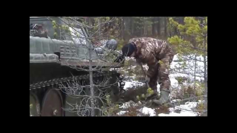 Со дна болота подняли советский танк КВ-2 Клим Ворошилов