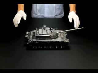 Выточка и сборка модели танка Type 99