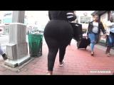NY 338 - Mega Booty In Black Stretch Pants HD - big ass butts booty tits boobs bbw pawg curvy mature milf