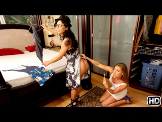 Gina valentina, kate linn (try this one on / 21.11.2016) [black hair, blonde, blowjob, deepthroat, latin, teen, lesbian, 720p]