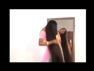 Indian women headshaving - women haircut very long to bald