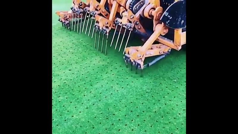 Golf Course aeration machine