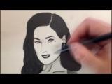 Зарисовка Dita Von Teese на скорую руку
