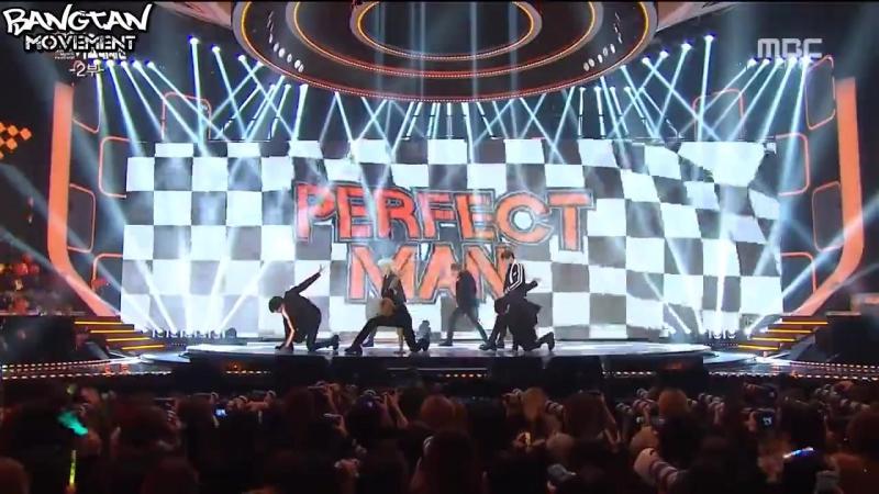 [RUS SUB][31.12.15] BTS - Perfect Man (Shinhwa cover) @ MBC Gayo Daejejeon
