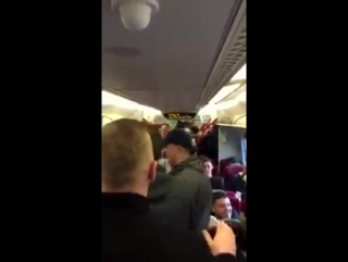 Nottingham Forest fans on the train heading to Derby on Sunday