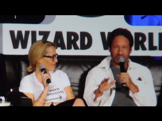 X-files @ Wizard World Chicago Comic Con 2016 (David Duchovny, Gillian Anderson)