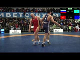 Поддубный 2017 98кг Муса Евлоев Сиздыков Казахстан 1 4 финала