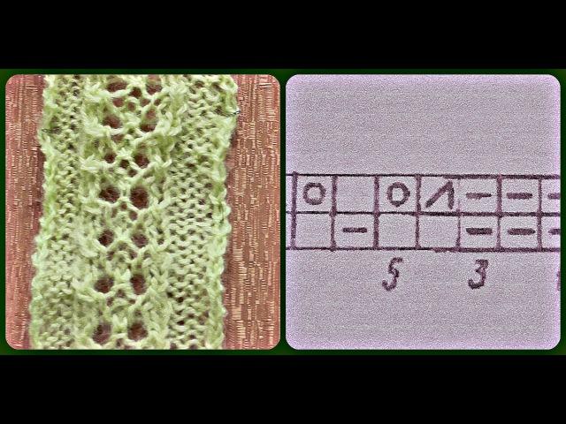 Вязание ажурной дорожки спицами. Схема. Видео урок. » Freewka.com - Смотреть онлайн в хорощем качестве