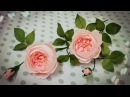 How To Make David Austin Rose From Crepe Paper Craft Tutorial