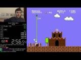 (4:56.878) Super Mario Bros. any% speedrun *World Record*