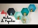 DESAFIO DIY   Nichos Hexagonais de Papelão por Isabelle Verona