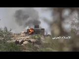 شاهد  احراق آلية عسكرية سعودية بعد فرار طاق&#