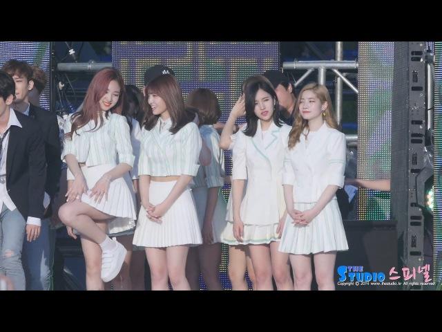 170519 트와이스 뮤뱅 엔딩 직캠 - 아이유 팔레트 따라부르는 나연 TWICE fancam (전주 뮤직48197
