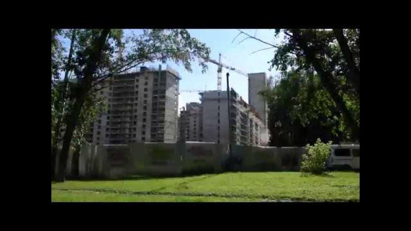 ЖК Летний сад: большая прогулка по аллее со стороны Дмитровского шоссе
