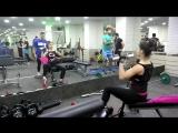 Фрагмент тренировки спины и грудных мышц с Ксенией Хорошиловой