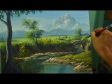 Acrylic Painting Lesson | River to the Bridge by JM Lisondra