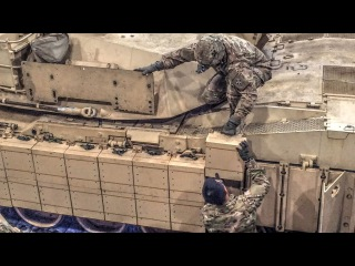 M1A2 SEP TUSK II Reactive Armor Installation