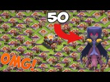 LOL! 50 Max Witches VS Full Barbarian's kings base Will the Witches Survive Clash of Clans New 2017