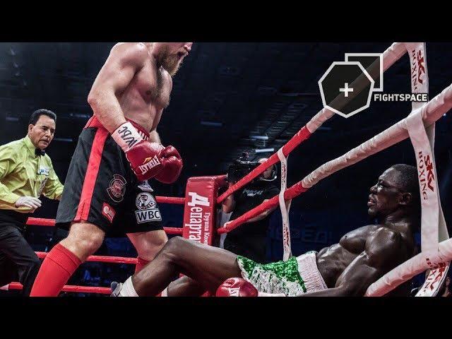 Дмитрий «Кувалда» Кудряшов vs. Оланреваджу Дуродола 2, полный бой, НОКАУТ в HD   FightSpace