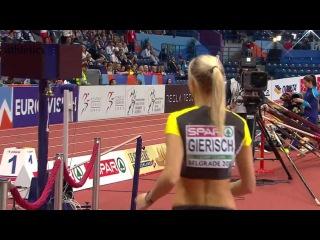 Kristin GIERISCH 14.37 WL Triple Jump - European Athletics Indoor Championships Belgrade 2017