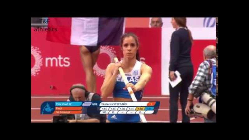 Ekaterini Stefanidi 4.85 EL Pole Vault - European Athletics Indoor Championships Belgrade 2017