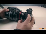 Sony A6500 with FotoDiox ND Throttle Variable ND Filter Canon EF to Sony Lens Adapter