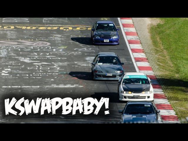4 K SWAP Hondas vs Nürburgring K20 DC2 K24 EK K20 EG K20 EK