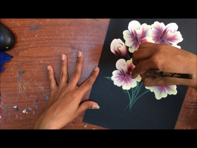 One Stroke Painting- Quick and Easy Bunch of Rose