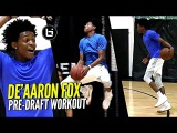 De'Aaron Fox NBA Draft Workout Session! Quickest Player In The NBA Draft