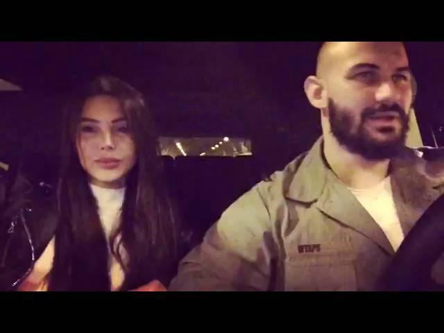 Джиган и Оксана Самойлова слушают песню Jah Khalib Лейла