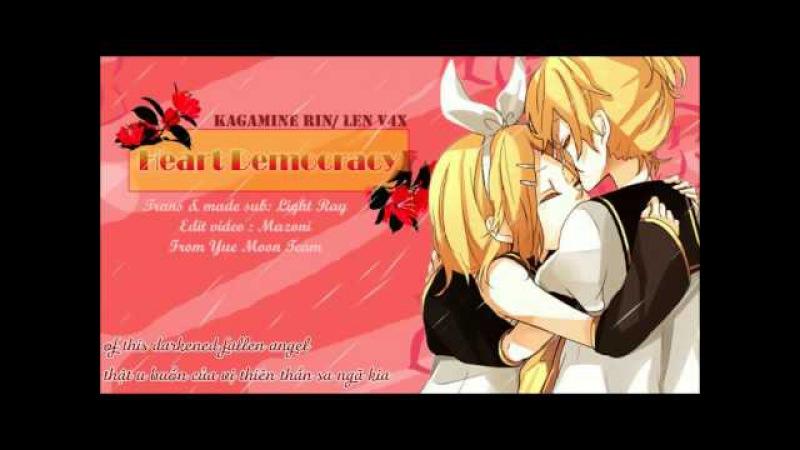 【Yue Moon】Heart Democracy - Kagamine Rin/ Len V4X【Vietsub/Engsub】
