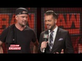 Sheamus interrupts Josh Duhamel's interview Raw Fallout, June 26, 2017
